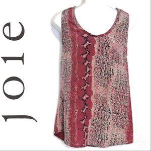 Joie Women's Alicia Tank Silk Snake Print Sz S